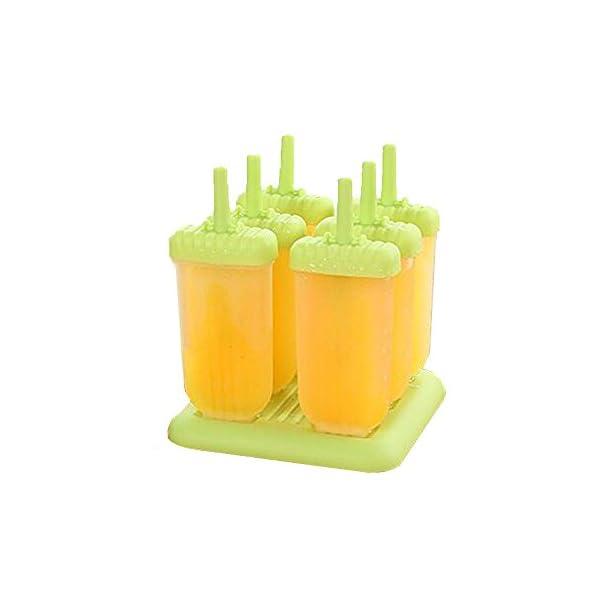 delmkin 6 St. ghiaccioli forme ghiaccio forme 6 pezzi gelato forme per bambini verde 2 spesavip