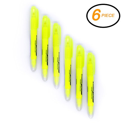Emraw 3pcs/Pack Smooth Glide Solid Gel Fluorescent Erasable Highlighter Sticks Student Study Kit, Yellow (Pack of 2)