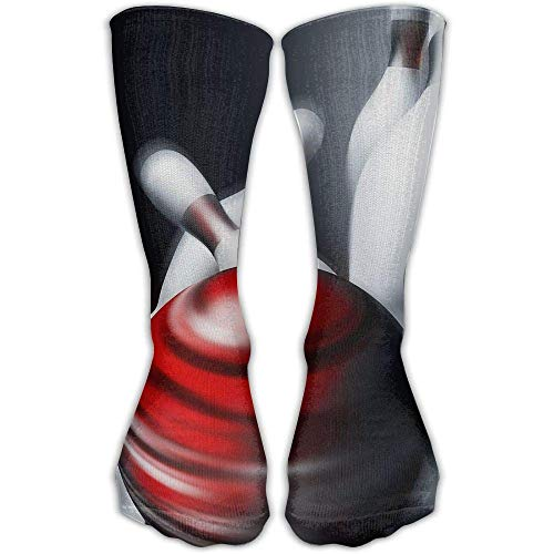 - Women Athletic Warm Stockings Red Bowling Ball and Pins & Men Soccer Popular Cool Over The Knee Novelty Socks