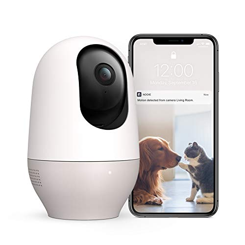 Dog Pet Camera, Nooie 1080P FHD WiFi Camera Wireless Security Camera Baby Monitor 360 Degree IP Indoor Camera with Motion & Sound Detection, Super IR Night Vision, Two-Way Audio, Works with Alexa