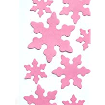 Edible Wafer Gluten GMO Dairy Sugar Nut Soy Free Pink Snow Flakes