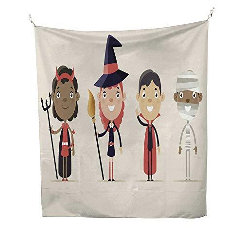 25 Home Decor Tye dye Tapestries Children in Halloween Costume Greatful Dead Tapestries 70W x 84L INCH