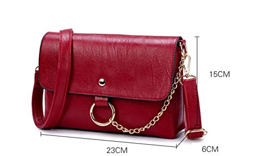 FZHLY Nuove Signore Shoulder Bag High-end Bambino ALT Pacchetto,Red