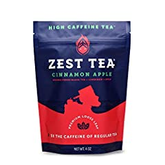 Winner of Best New Product at the 2015 World Tea Expo, Zest premium energy teas offer the same energizing kick of coffee without the negative side effects. Despite our teas having comparable caffeine levels to coffee-about three times the lev...