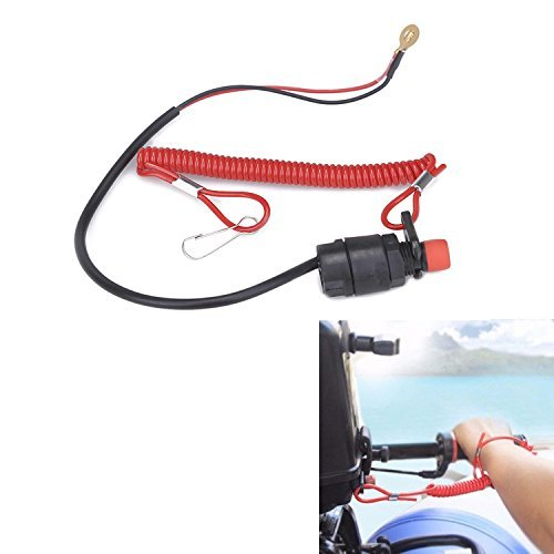Royitay Universal Boat Outboard Engine Motor Kill Stop Switch and Safety Tether Lanyard Outboard Motors ATV Boat Bike