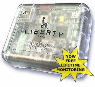 Liberty's SafElert Gun Safe Alarm System Hides in Your Safe, Warns of Movement, Burglary, Fire, & Excessive Humidity by Email, Text, or iOS & Android Apps. Now with Lifetime Free Monitoring