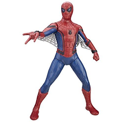 """Spider-Man Boneco Figura de Ação Homem Aranha Eletrônico Vermelho/Azul/Cinza 16"""""""