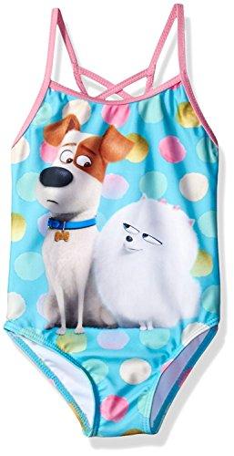 Secret Life of Pets The Girls Swimwear Swimsuit (5-6, Blue Max Gidget)]()