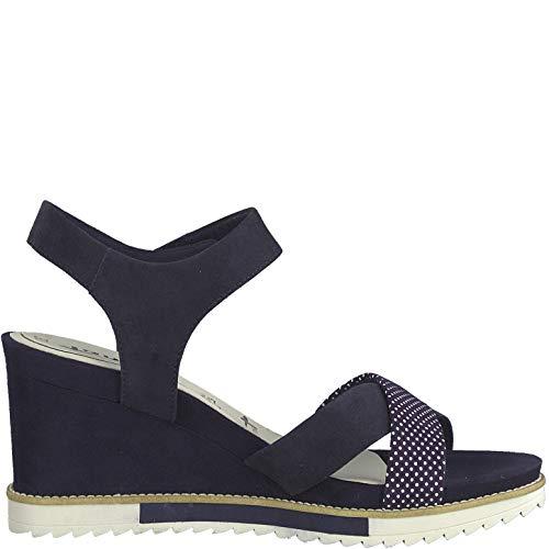 Compensées Sandales D'été plat sandales Tamaris sandales 28350 22 Femme it 1 confortable Compensées 1 touch Navy chaussures wPTqAOBY