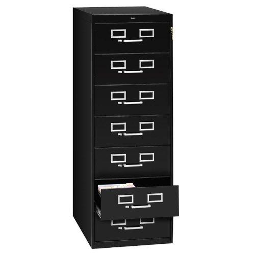 TNNCF758BK - Seven-Drawer Multimedia Cabinet For 5 x 8 - 8 Card File Drawer