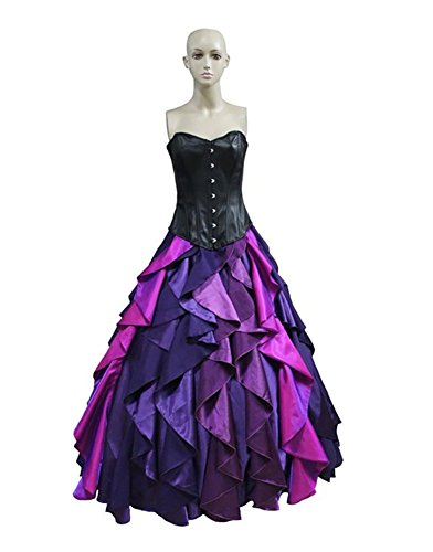Princess Costume For Women Adult Halloween Party Sea Witch Deluxe Dress (Ursula The Sea Witch Costumes)