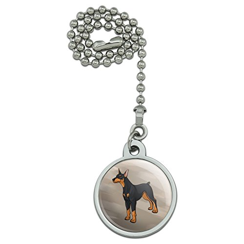 - GRAPHICS & MORE Doberman Pinscher Dog Pet Ceiling Fan and Light Pull Chain