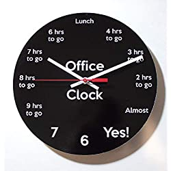 Funny Office Clock: Countdown to 5pm - 10 Handmade Wall Clock