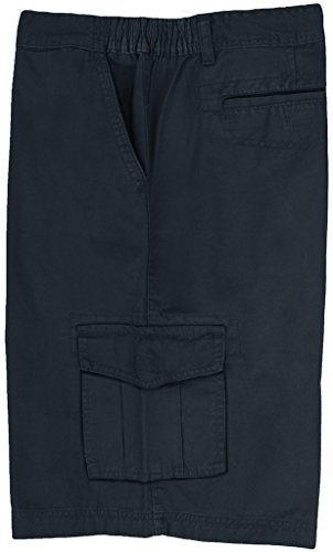 Full Blue Big Men's Cargo Shorts with Expandable Waist Size 54 Navy #872B
