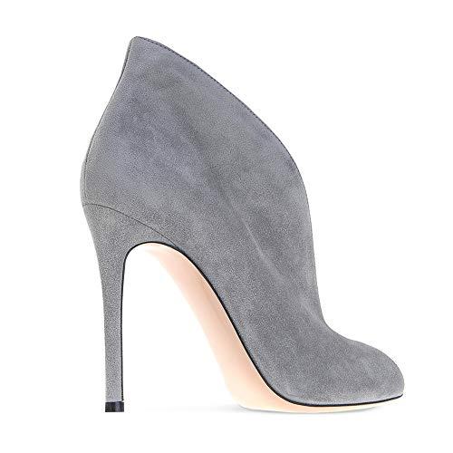 Blau Hoch Hochzeit Abend Hacke Stiefel Schuhe Wildleder Samt QQBoots Knöchel Damen Grau Absätze Sandalen Stilett xq8AT7HO