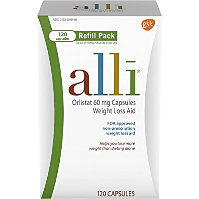 alli Weight Loss Aid Orlistat 60 mg Capsules,120 Count