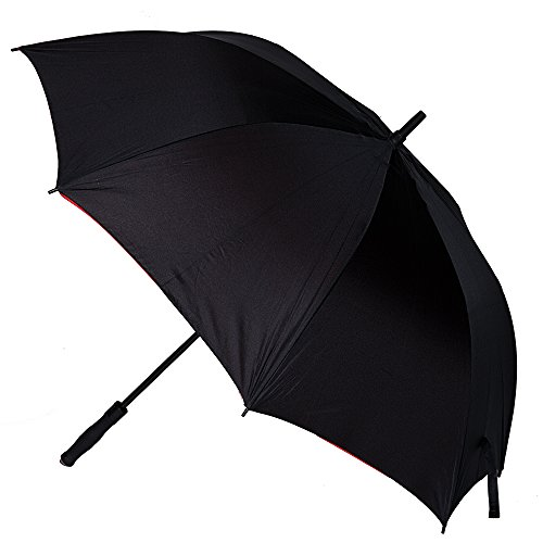 Golf Umbrella Windproof - 62 inch Extra Large –- Open Rain & Wind Resistant - Portable- Automatic Open Umbrella For Men and Women (Black)
