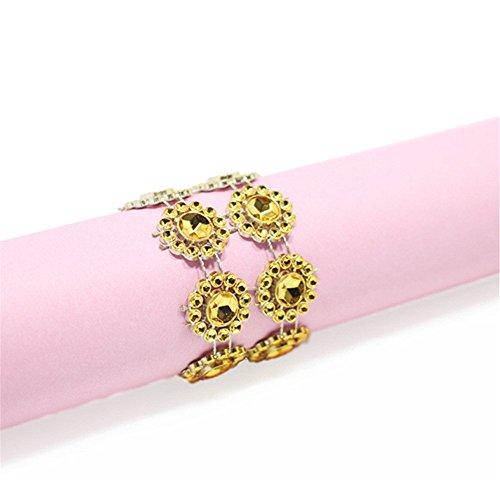 Napkin Rings Rhinestone Gold Napkin Rings Adornment for Wedd
