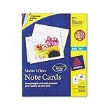 Avery Note Cards for Inkjet Printers, 4 1/4 x 5 1/2, Matte White, 60/Pack w/Envelopes