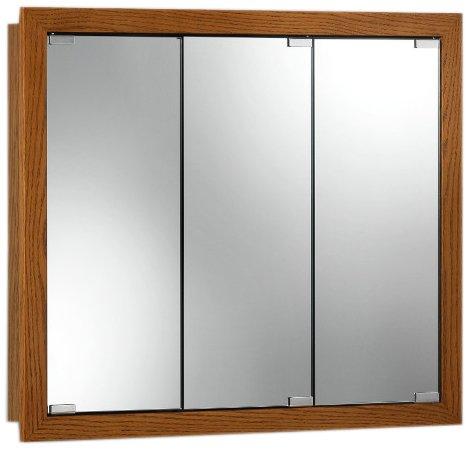 Jensen 740647 Granville Oversize Medicine Cabinet, Honey Oak, 36-Inch by 30-Inch by -