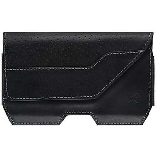 (Nite Ize Clip Case Executive Leather Phone Holster - Premium Protective, Clippable Phone Holder for Your Belt Or Waistband - Extra Large - Black)