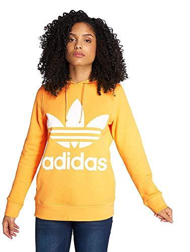 Felpa Donna Trefoil Adidas He Orange Chalk q0RY7