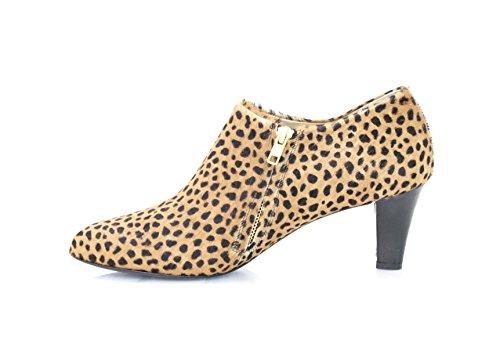 Safari Enkellaars Enkellaarzen Bredere Hak 5cm Leopard