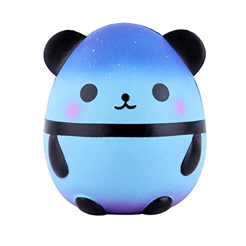 Anboor 5.5 Inches Squishies Panda Egg Galaxy Sky Jumbo Slow Rising Scented Kawaii Squishies Animal Toy for Gift Collection