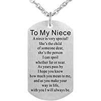 Freedom Love Gift To My Niece Pendant Necklace Jewelry Encouragement Gift from Aunt Uncle