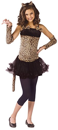 Cat Girl Fancy Dress Costume (Girls Wild Cat Kids Child Fancy Dress Party Halloween Costume, M (8-10))