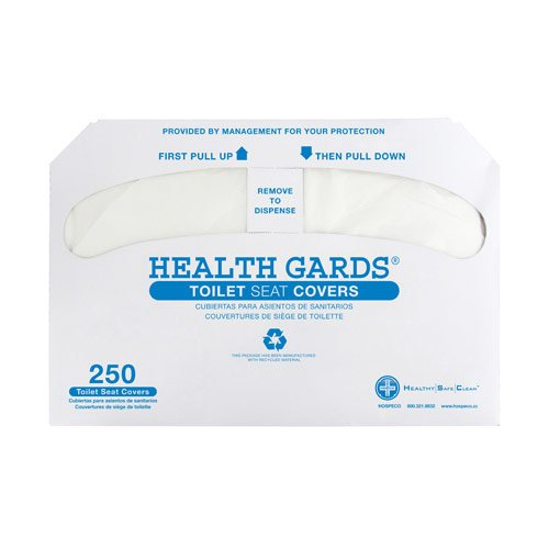 Hospeco Health Gards Half-Fold Toilet Seat Covers (250 Covers/Pack) (20 Packs) - BMC-HSC HG-5000