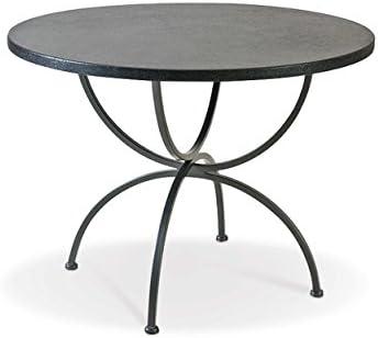 MBM Rosanna - Mesa de jardín (100 cm, hierro forjado), color gris ...
