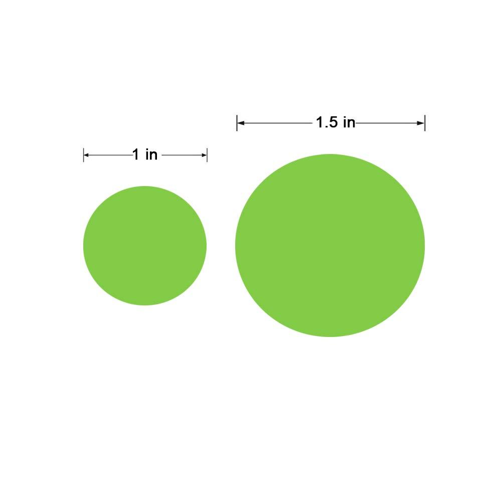 Verkauf Klebepunkte bunt gl/änzend beschreibbar Hcode 2,5 cm Farbcodierungsetiketten rund 1.000 St/ück leuchtend gr/ün Garage Permanentkleber Preis Aufkleber