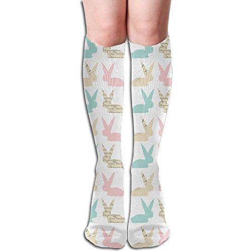 Cute Easter Bunny Unisex Compression Socks Crew Socks Athletic Socks Knee High Socks For Travel