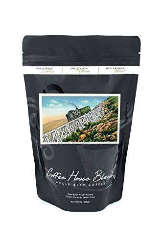 New Hampshire - Mt Washington Cog Railway, Jacob's Ladder (8oz Whole Bean Small Batch Artisan Coffee - Bold & Strong Medium Dark Roast w/ Artwork)