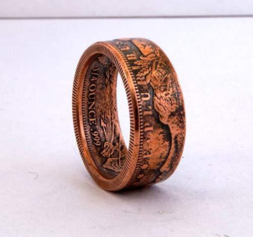 Morgan Dollar Kupfer Replik Münze Ring Handgemachte Siegel Schmuck