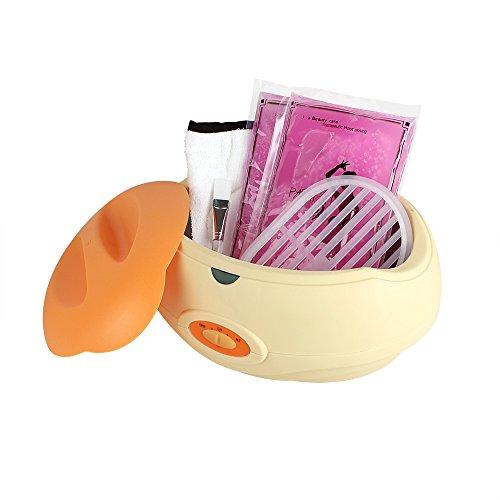 SPEED Paraffinbad Paraffin inkl ( 2x450g Paraffin +1x golves+1x booties +1x Pinsel +1x Schutz Bord) Wachs and Zubehör Paraffin Starter-Set 150W Orange
