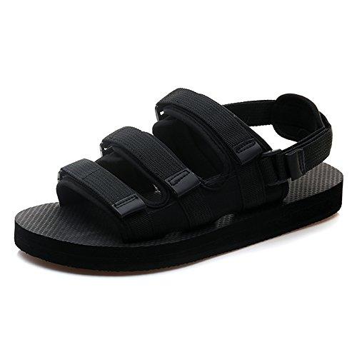 Sandals MAZHONG Men's Summer Bathroom Non-slip Outer Beach Shoes (Color : Black-EU38/UK5.5/CN38) Black-eu39/Uk6.5/Cn40