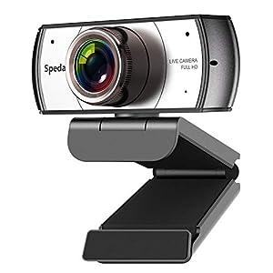 Webcam Grand Angle Vue 120 Degrés, Webcam avec Microphone, Vidéoconférence Cámara Web HD 1080P pour Mac Windows