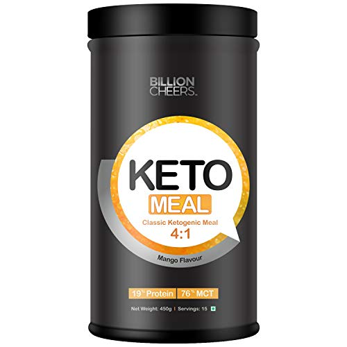 BILLIONCHEERS Keto Meal Replacement Shake for Weight Management & Weight Loss (4:1) – Ketogenic Diet with 19% Protein and 76% premium MCT and Low carb – Sugar Free, Gluten Free (Mango)
