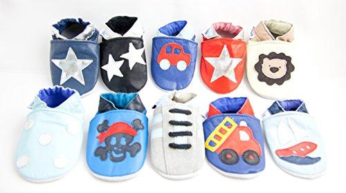 weiche Leder Baby Schuhe für Jungen Jolly Roger Pirat
