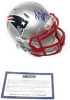 Rob Gronkowski New England Patriots Signed Autograph Speed Mini Helmet  Steiner Sports Certified dea19232c