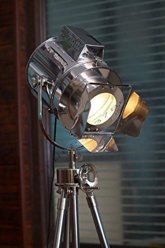 Huge Vintage Designs Light Adjustable Theater Searchlight Tripod Floor Lamp