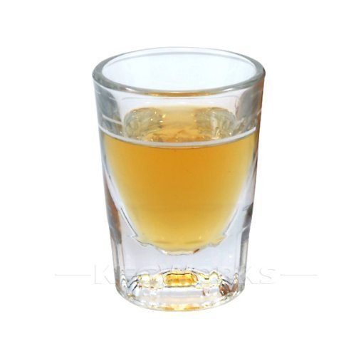 1 X 2 oz Heavy Shot Glass with Line - Flared Shot Glass