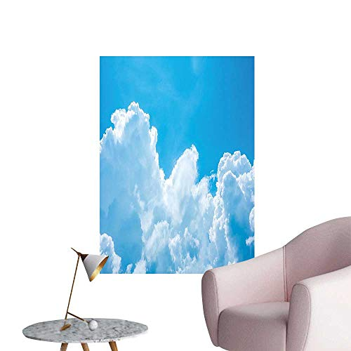 Wall Stickers for Living Room Crystal Clouds in The Sky Heavenly Life Hope Symbol Surface of Planetary Body Vinyl Wall Stickers Print,16