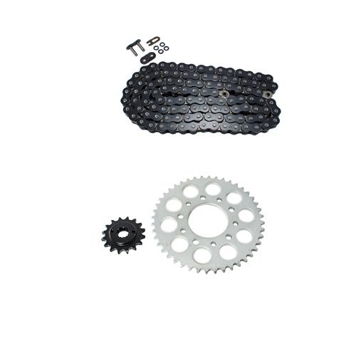 Black O-Ring Chain and Sprocket Kit for Honda VT600 C Shadow VLX 1989-2007