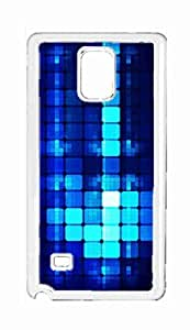 blue color Snap-on Hard Back Case Cover Shell for Samsung Galaxy Note 4 -291