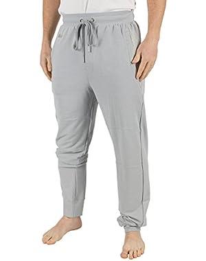 Men's Panelled Logo Pyjama Bottoms, Grey