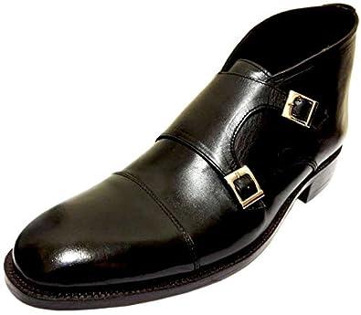 1c93ec27ffa57 Amazon.com | Johny Weber Handmade Black Leather Double Monk Strap ...