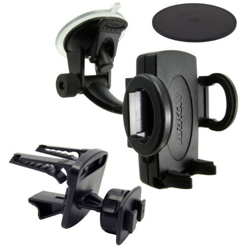 Arkon Windshield Suction Console, Dash and Vent Mount for Un